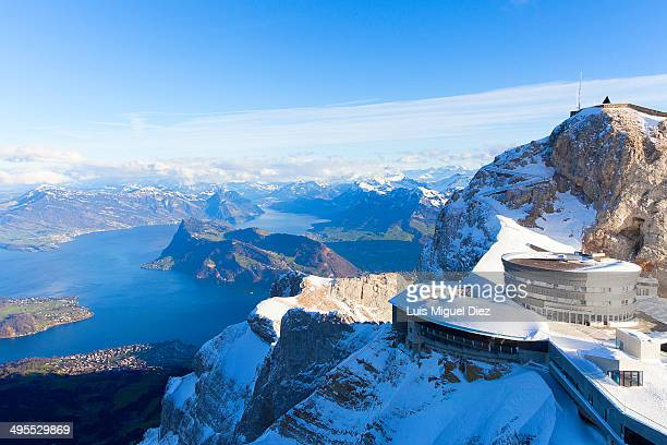 Alps and Pre-Alps from Mount Pilatus in Lucerne, Switzerland 2012