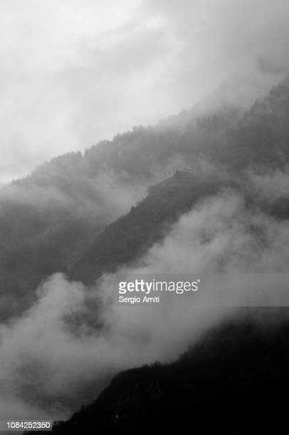 Alps in the mist
