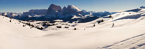 Alps Italian Dolomites Panoramic View During Winter Wall Art