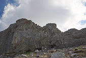 'Alps, Karwendel Mountains, rocky mountaintop'