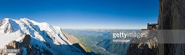 Alpes Mont Blanc, Chamonix Mont Aiguille du Midi. sommets en France