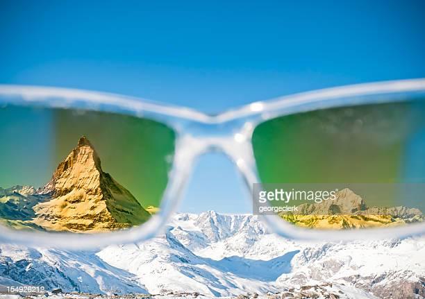 Alps Seen Through Sunglasses