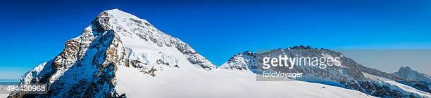 Alpen verschneiten Berggipfeln panorama Mönch Trugborg Aletschgletscher der Schweiz