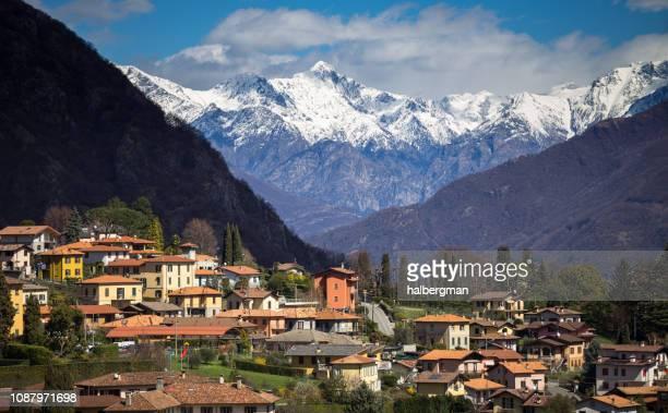 Alps Towering Over Menaggio, Italy