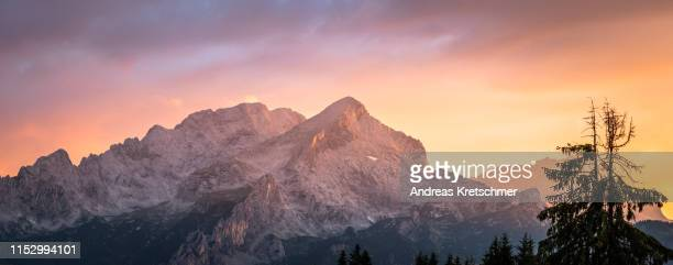 alpspitze - andreas solar stock pictures, royalty-free photos & images