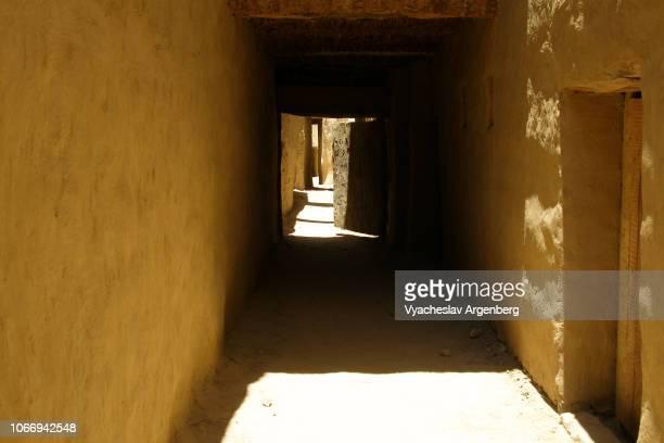 al-qasr, the old ottoman era town near dakhla oasis, egypt - argenberg stock-fotos und bilder
