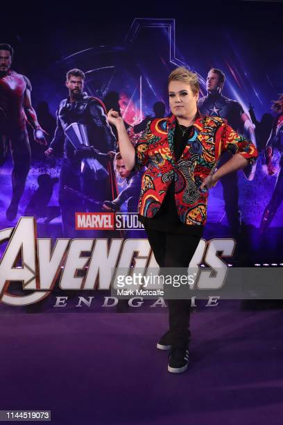 Alright Hey attends the Sydney screening of Avengers: End Game at Hoyts Entertainment Quarter on April 23, 2019 in Sydney, Australia.