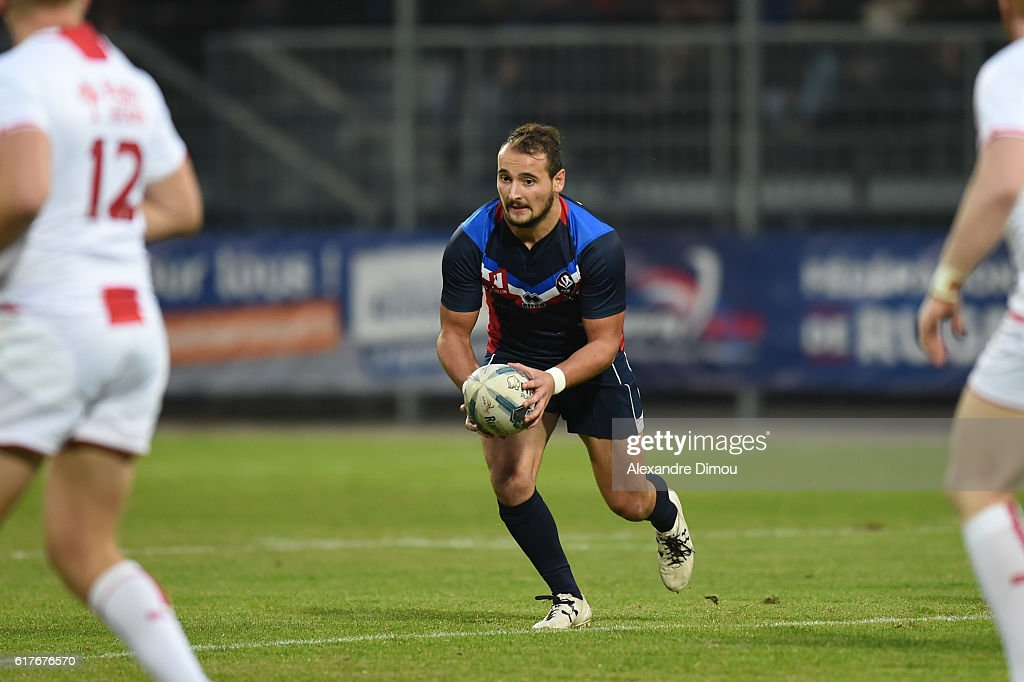 Alrix Da Costa of France during the rugby union test match between France and England on October 22, 2016 in Avignon, France.