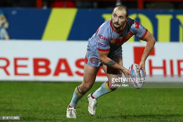 Alrix Da Costa of the Catalans Dragons during the BetFred Super League match between Hull KR and Catalans Dragons at KCOM Craven Park on February 15...
