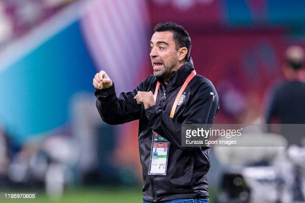 AlSadd Head Coach Xavier Hernandez gestures during the FIFA Club World Cup 5th place match between AlSadd Sports Club and Esperance Sportive de Tunis...