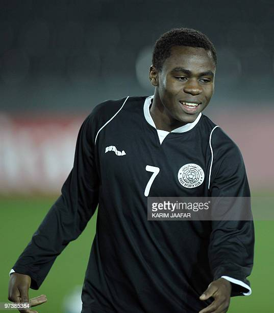 AlSadd's player Opoku Agyemang of Ghana attends a training session with his team in Doha on February 22 2010 in preparation for their AFC Champions...