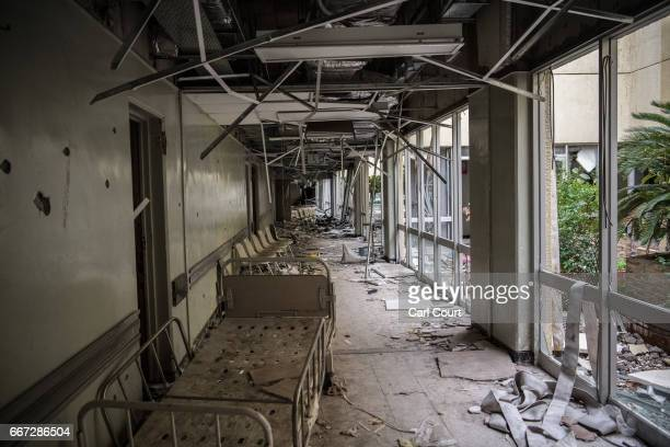 AlSalam Hospital lies in ruins after being destroyed during fighting between Iraqi forces and Islamic State on April 11 2017 in Mosul Iraq Large...