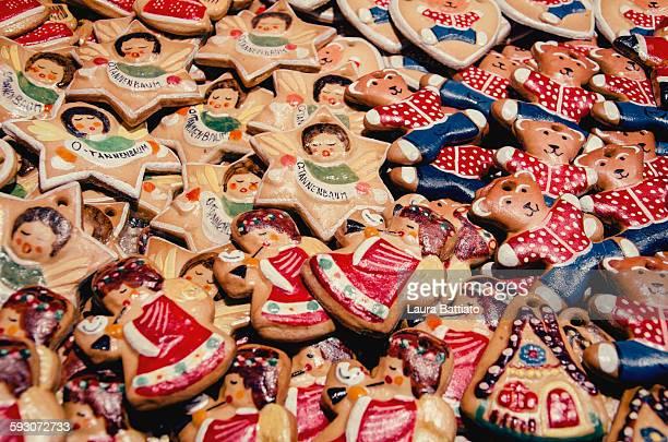 Alsatian Christmas cookies in a market, Strasbourg