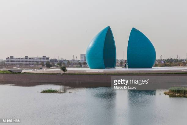 AlShaheed Monument is seen on April 21 2015 in Baghdad Iraq nAlShaheed Monument also known as the Martyr's Memorial is a monument in the Iraqi...