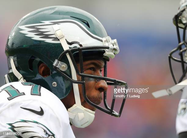 Alshon Jeffery of the Philadelphia Eagles during a game against the Buffalo Bills at New Era Field on October 27 2019 in Orchard Park New York Eagles...