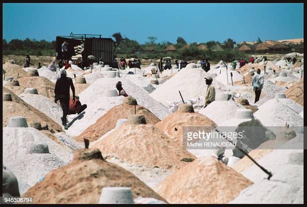 Also called Lake Retba, it is exploited for its salt. Appel? aussi lac Retba, il est exploit? pour son sel.