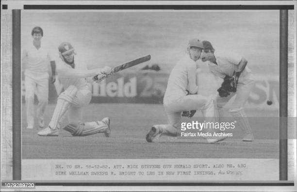 Also Ms amp BC Dirk Wellham Sweeps R Bright to leg in NSW first Innings December 17 1982