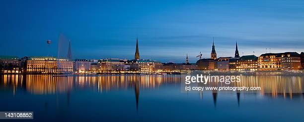 Alster Hamburg at night