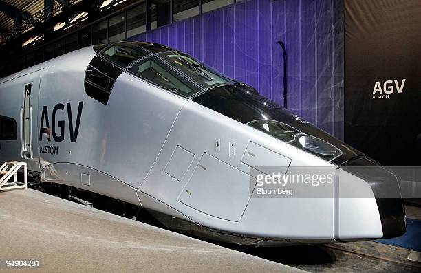 Alstom's new AGV, or Automotrice Grande Vitesse, train is seen at its presentation in La Rochelle, France, on Tuesday, Feb. 5, 2008. Alstom SA, the...