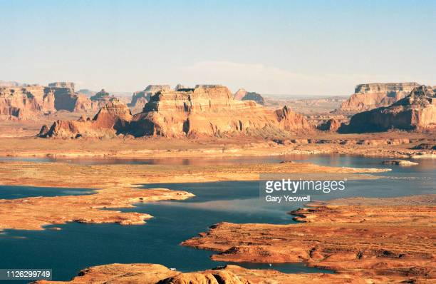 alstrom point overlooking lake powell, utah - reservoir stock pictures, royalty-free photos & images