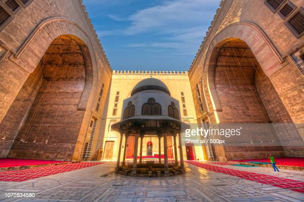 al-sultan hassan mosque - sultan hassan mosque stock pictures, royalty-free photos & images