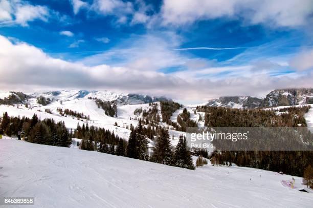 Alta Badia ski area in the Dolomites, Italy