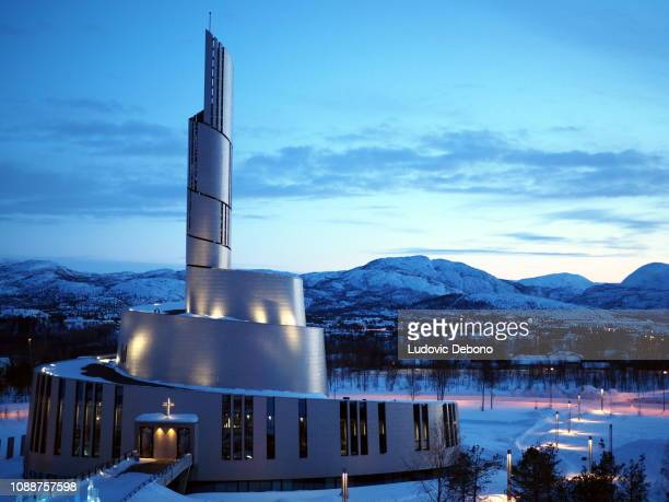 alta church at sunset - 2 - cathedral stock pictures, royalty-free photos & images