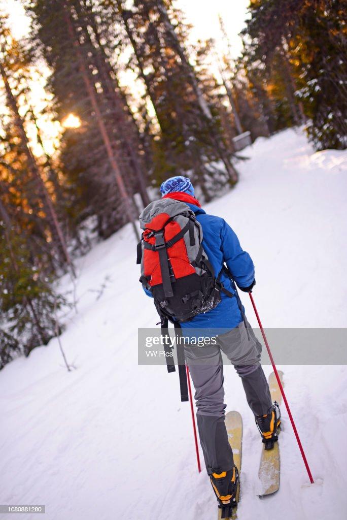 Altai Skiing in Pyha ski resort, Lapland, Finland