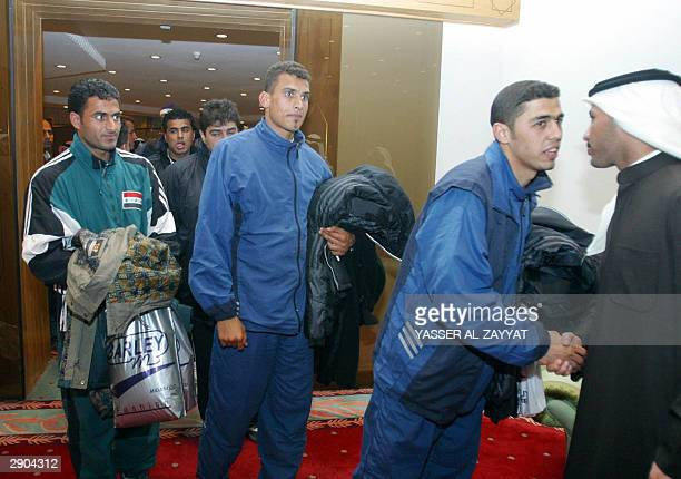 AlTalaba players arrive in Kuwait City early 27 January 2004 AlTalaba the first Iraqi soccer team to visit Kuwait since the 1992 Iraqi invasion of...