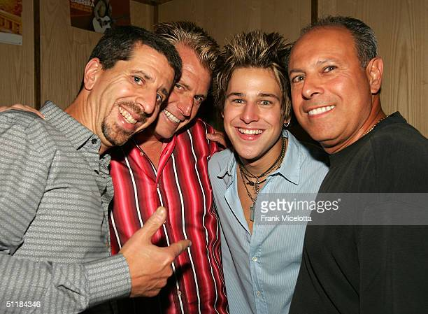 Altantic Records Group Chairman and CEO Jason Flom, manager Joe Simpson, singer/songwriter Ryan Cabrera, and his father Mark at the album release...
