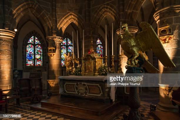 Altar and Choir of the Holy Virgin Church of Granville, église Notre-Dame du Cap Lihou, Granville, Normandy, France