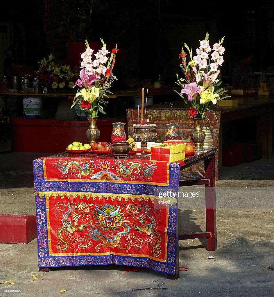 Altar em Templo em Taiwan : Foto de stock