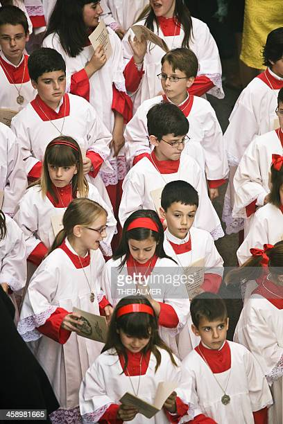 altar boys during the Celebration of Holy Week