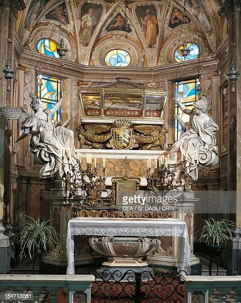 Altar by Francesco Maria Schiaffino with the urn of Santa Caterina Fieschi Adorno St Catherine Church Genoa Italy 18th century