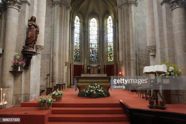 Altar. Church of Our Lady. XIII th century. Altar. Cluny. France.