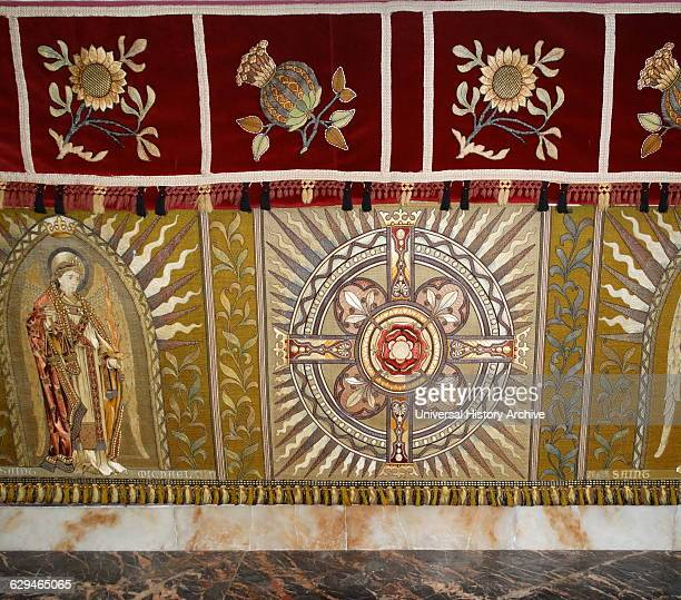 altar covering at St Michael and All Angels Anglican church in Hughenden Buckinghamshire England Closely associated with the nearby Hughenden Manor...