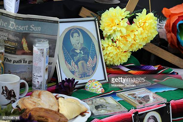 Altar memorial at the Day of the Dead celebration Cathedral City California