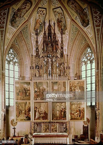 Altar of church St Wolfgang in Salzkammergut Austria 14351498 Pacher