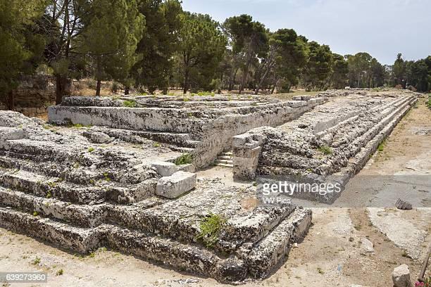 Altar of Hieron II Neapolis Archaeological Park Syracuse Sicily Italy