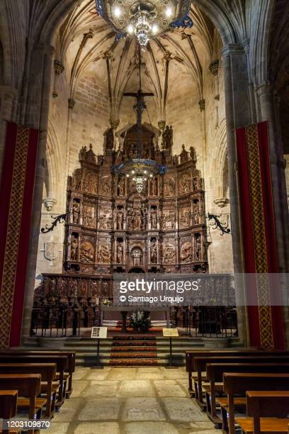 altar of pro-cathedral church of santa maría in caceres - caceres stock pictures, royalty-free photos & images