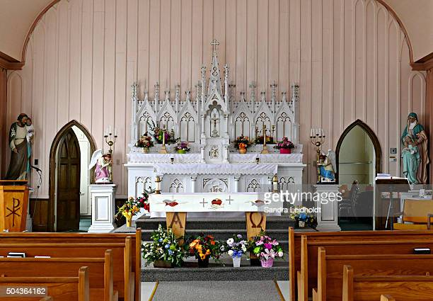 Altar of Sts Peter and Paul Roman Catholic Church in King's Cove, Bonavista Bay, Newfoundland