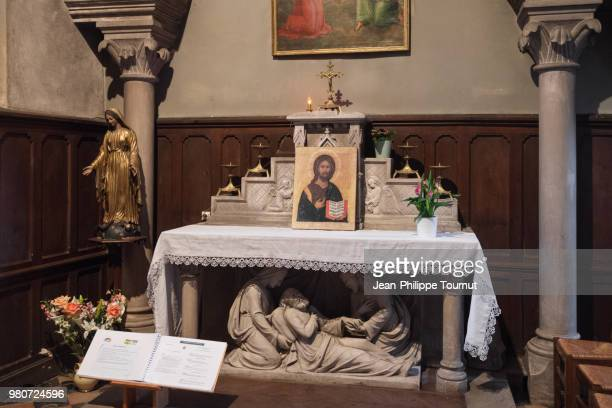 Altar of the Blessed Sacrament Chapel in St. Martin Church, église Saint Martin, Chagny, Bourgogne, France