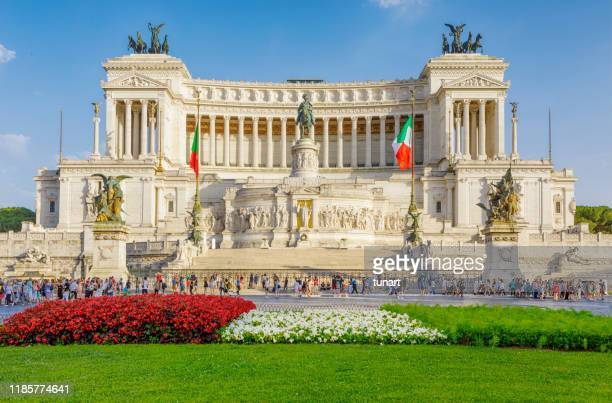 altar of the fatherland, rome, italy - altare della patria stock pictures, royalty-free photos & images