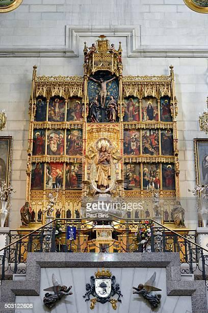 Altar of the Virgin of Almudena, Catedral de la Almudena, Madrid.