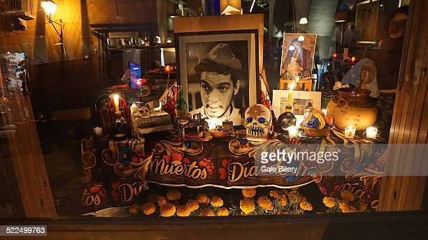 Altar to Cantinflas Mexico's favorite actor/ Comedian. Died in 1993 San Miguel de Allende Mexico November 2014