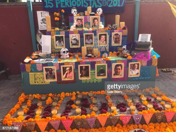 Altar to the Memory of Murdered Mexican Journalists