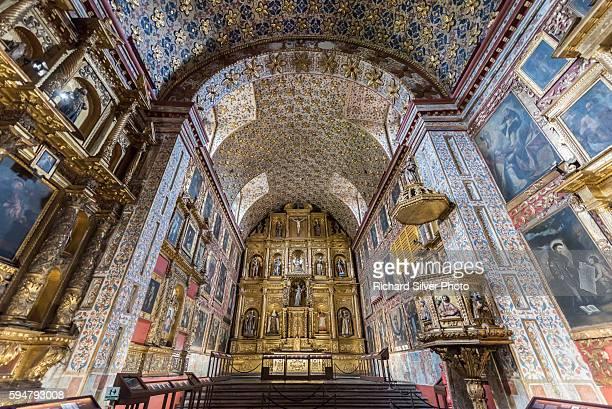 altar view of santa clara bogota, colombia - bogota stock pictures, royalty-free photos & images