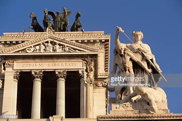 altare della patria, rome, lazio, italy, europe - altare della patria stock pictures, royalty-free photos & images