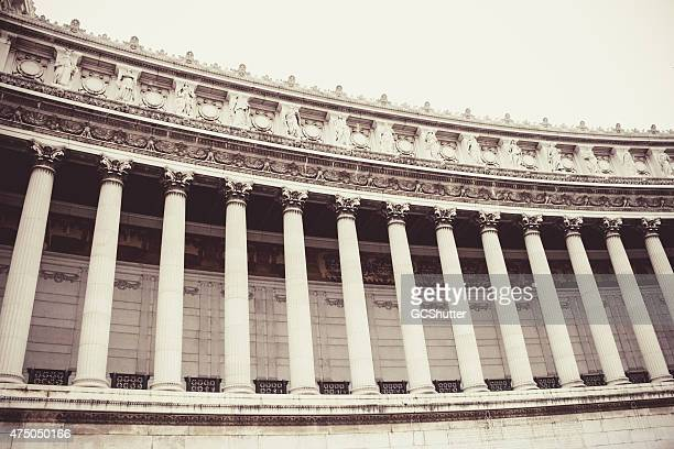 altare della patria, series of pillars - western europe stock pictures, royalty-free photos & images