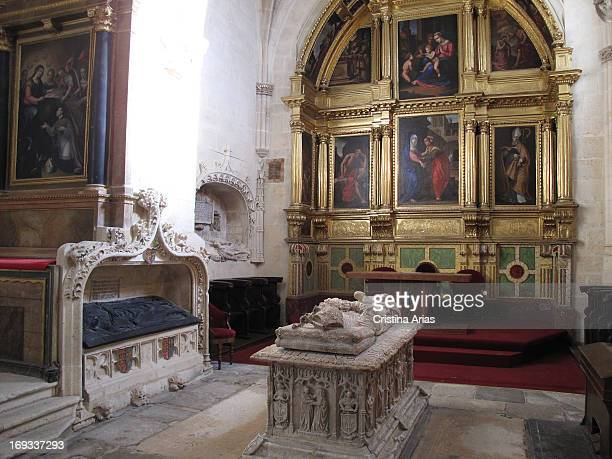 Altarpiece and tomb of Bishop Alonso de Cartagena in the Chapel of the Visitation in the cathedral of Burgos, UNESCO World Heritage Site, Burgos,...